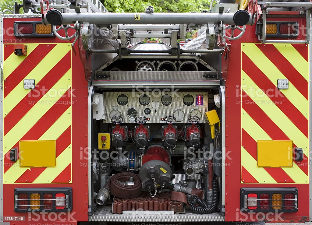 Fire engine rear royalty-free stock photo