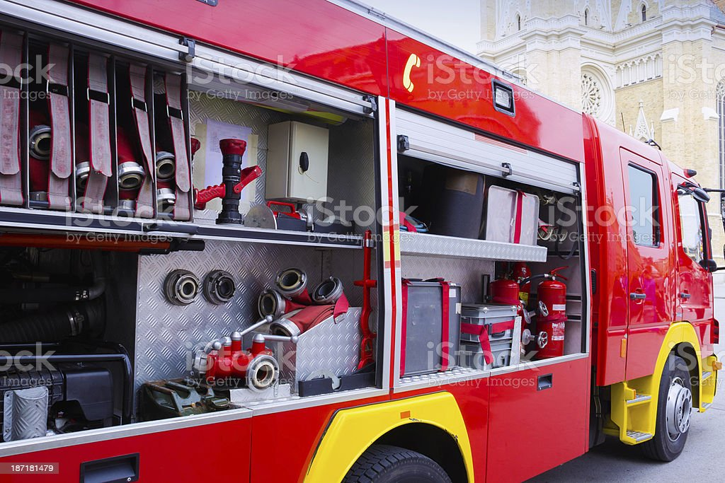 Fire engines royalty-free stock photo