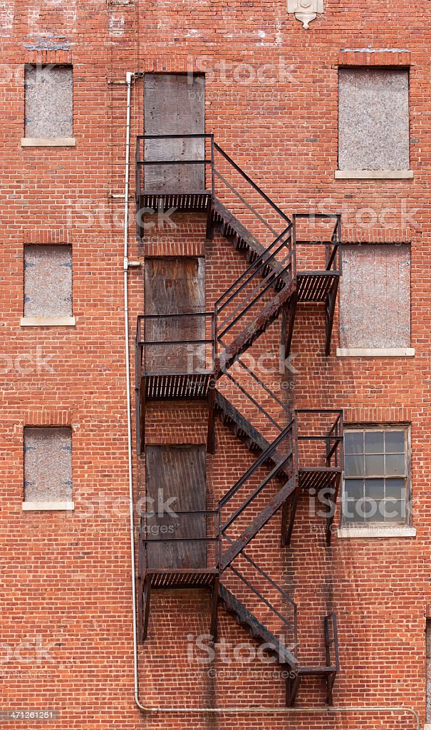Fire escape - closed for business stock photo