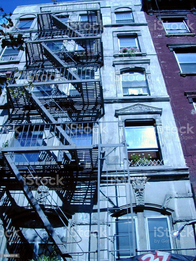 fire escape in manhatten 03 royalty-free stock photo