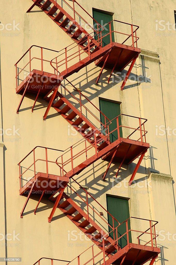 Fire Escape Ladder stock photo