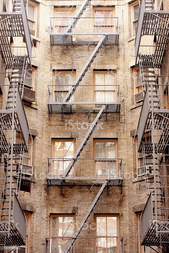 Fire Escape - NY Apartment Building royalty-free stock photo
