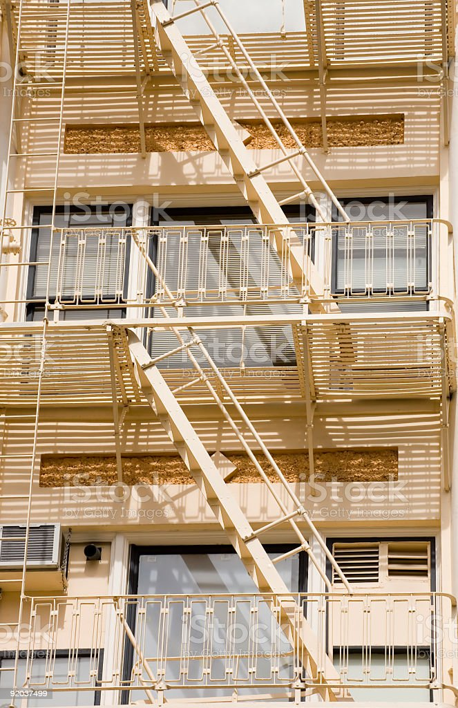 Fire Escape on Historic Building royalty-free stock photo
