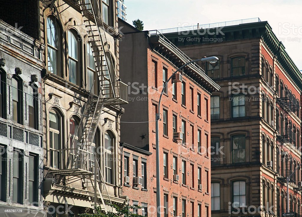 Fire Escape Outside Of Building royalty-free stock photo