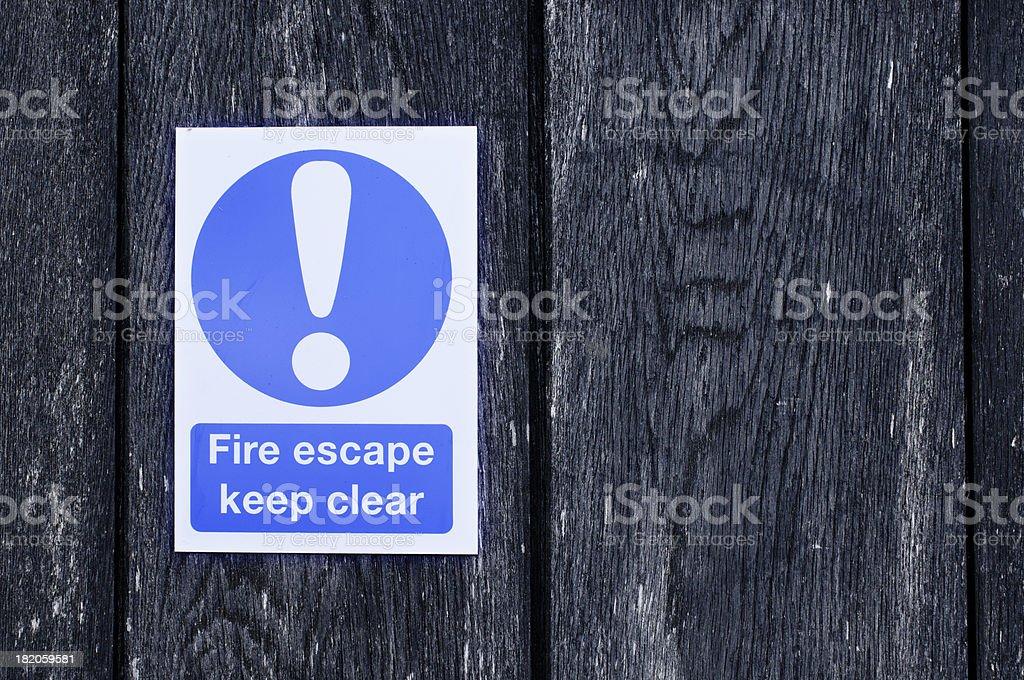 Fire escape sign stock photo