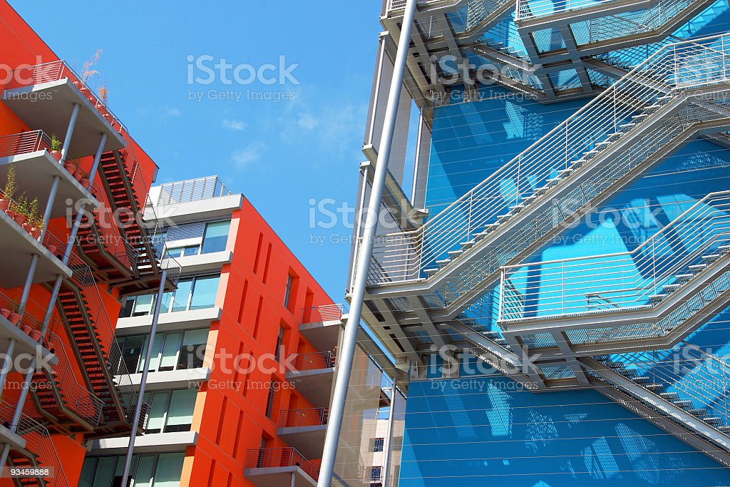 Fire Escapes royalty-free stock photo