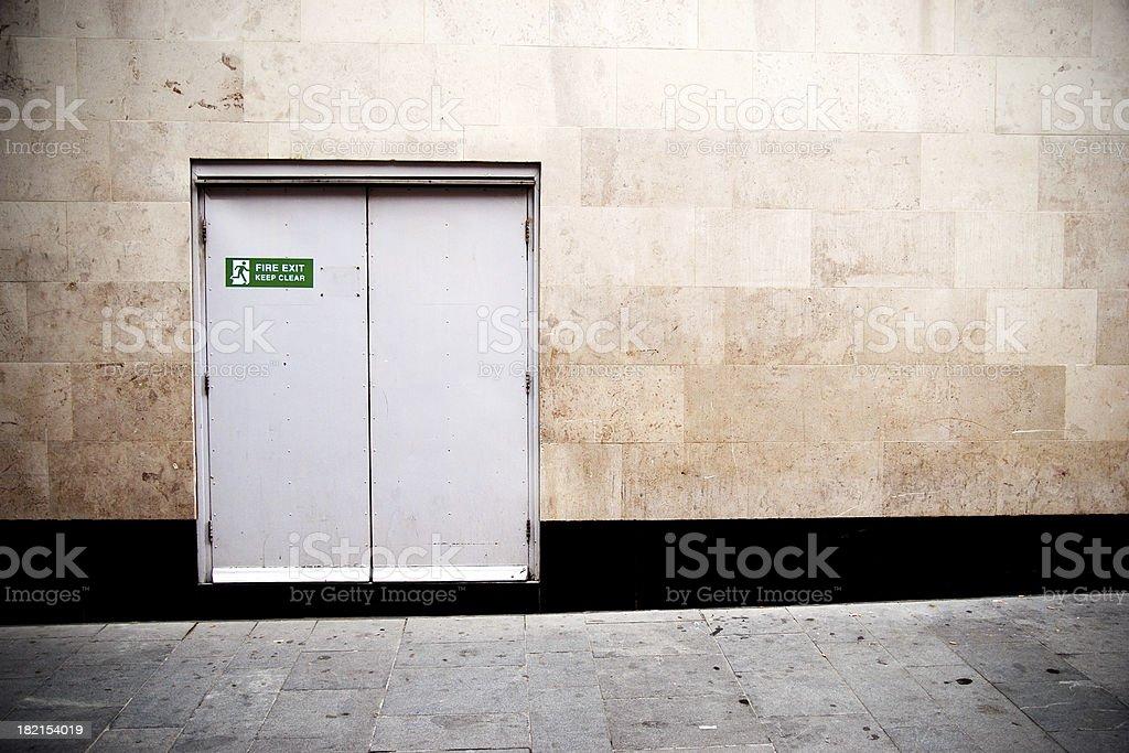 Fire exit door stock photo