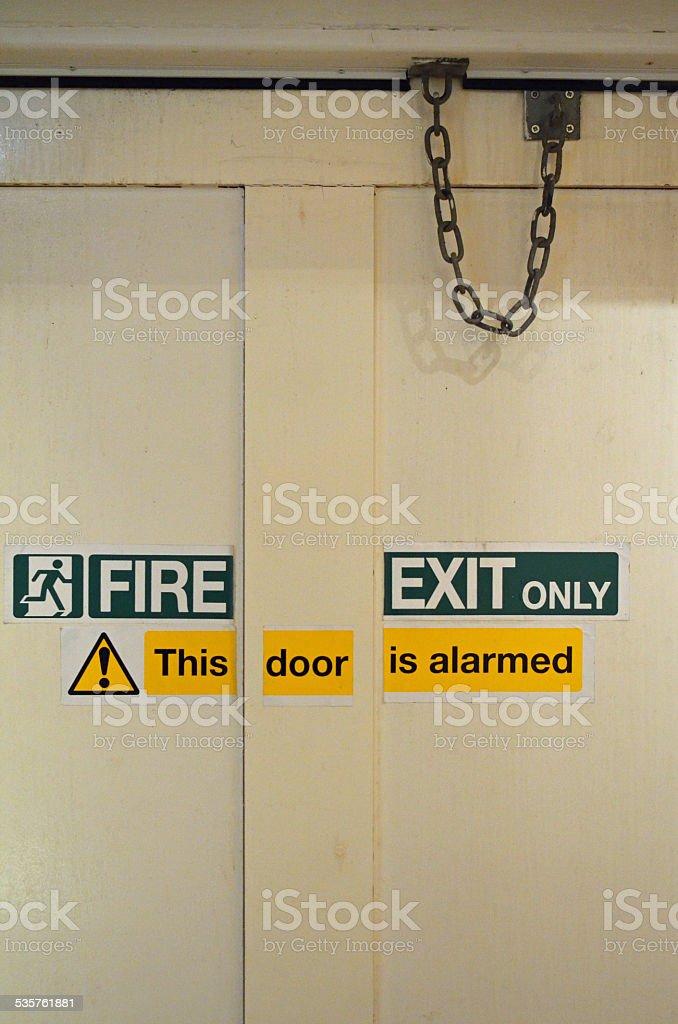 Fire Exit door. stock photo