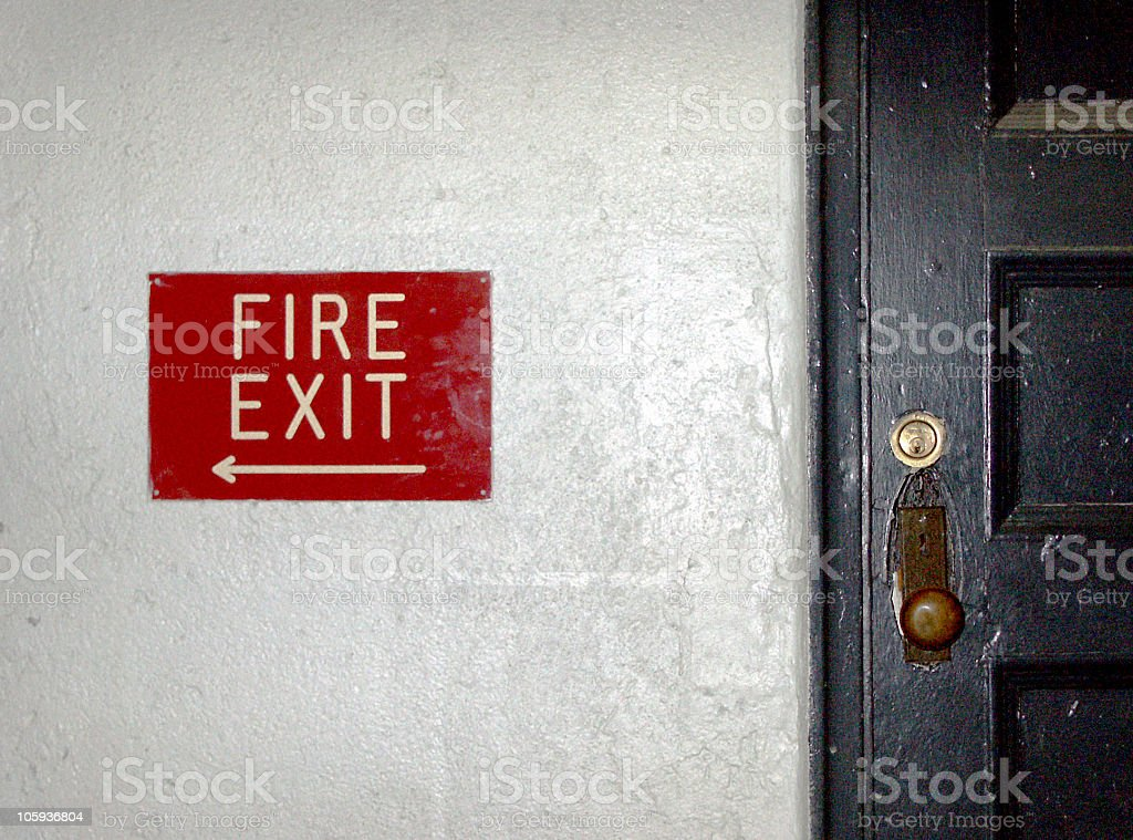 Fire Exit royalty-free stock photo