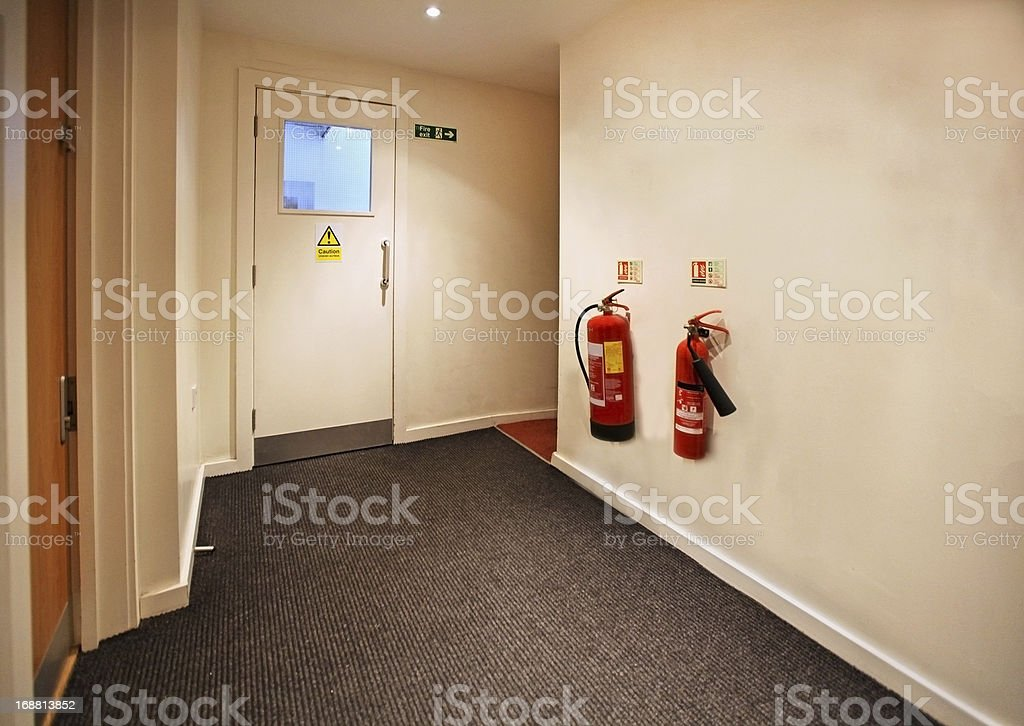 Fire exit stock photo