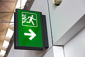 Fire Exit Sign Lightbox in the airport