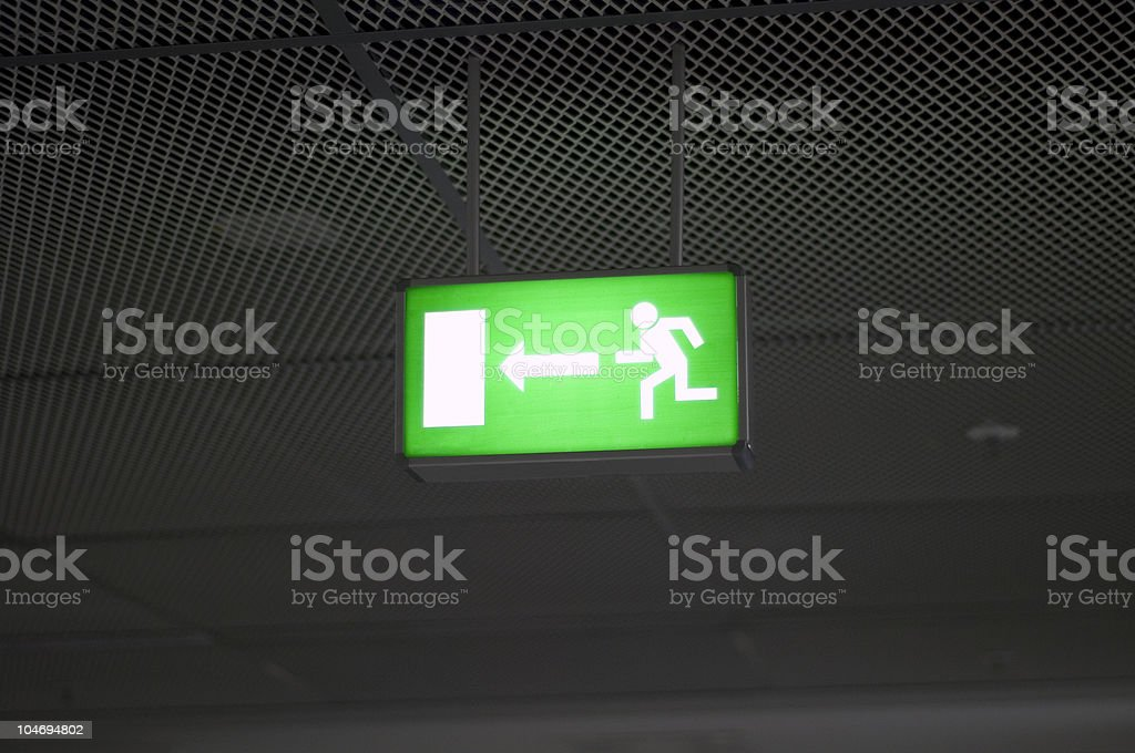 Fire exit sign royalty-free stock photo