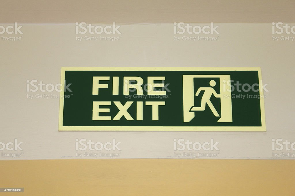 Fire exit sign. royalty-free stock photo