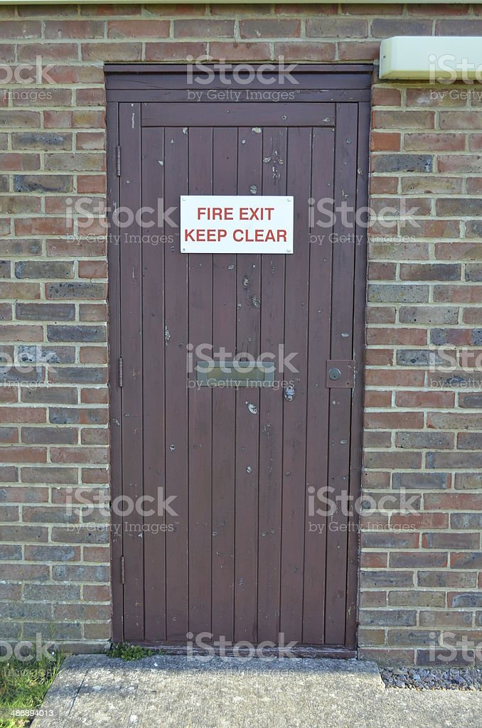 Fire Exit Sign. stock photo