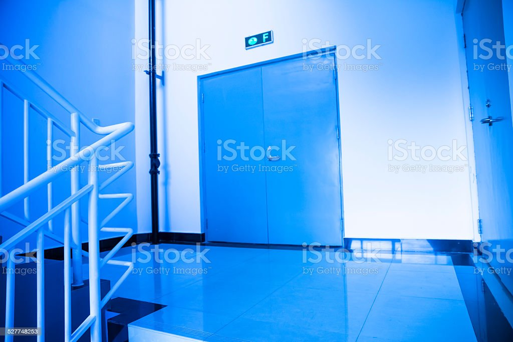 Fire exits stock photo