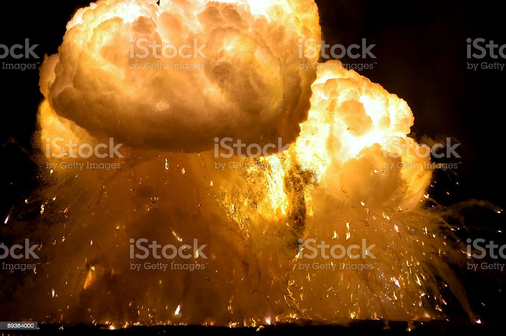 Fire explodes royalty-free stock photo