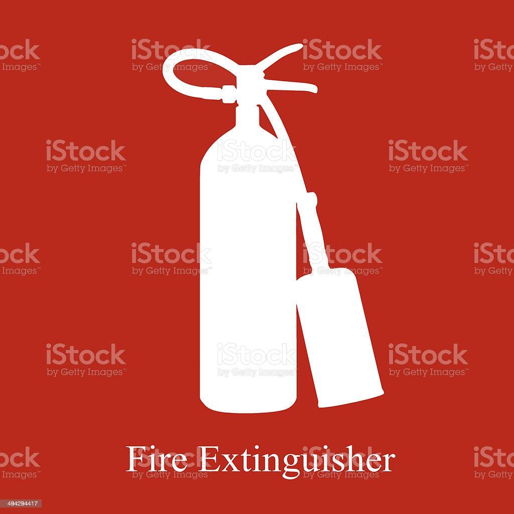Fire extinguisher equipment area stock photo