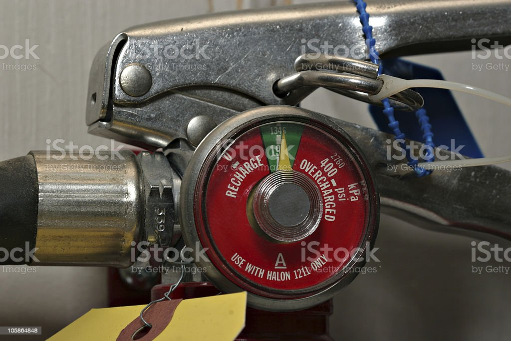 Fire Extinguisher Guage royalty-free stock photo