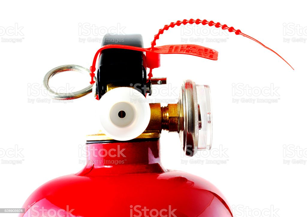 Fire extinguisher isolated on white stock photo