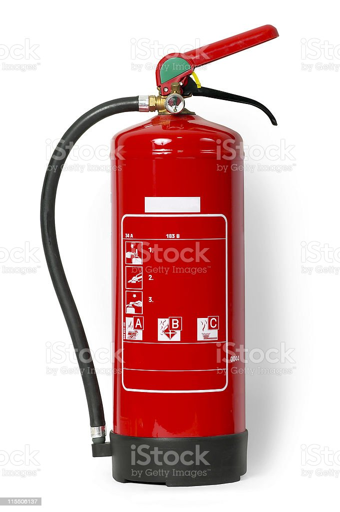 Fire Extinguisher (with Clipping Path) royalty-free stock photo