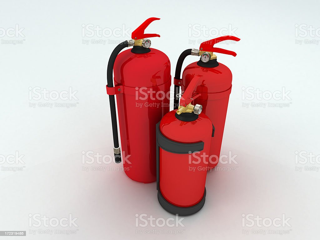 Fire extinguishers stock photo