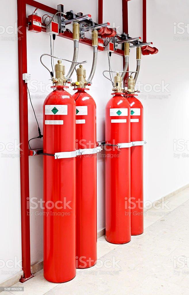 Fire extinguishing system stock photo