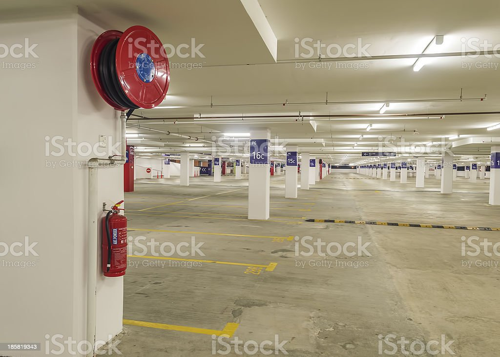 Fire extinguser and pipe hose royalty-free stock photo