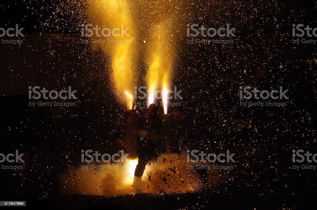 Festival del fuego en Japón foto de stock libre de derechos