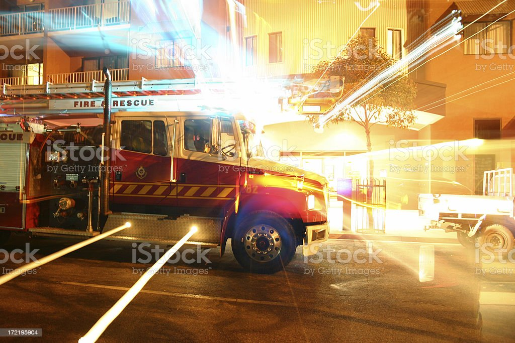 fire fight rescue stock photo