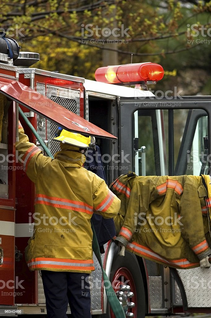 Fire Fighters on Scene royalty-free stock photo