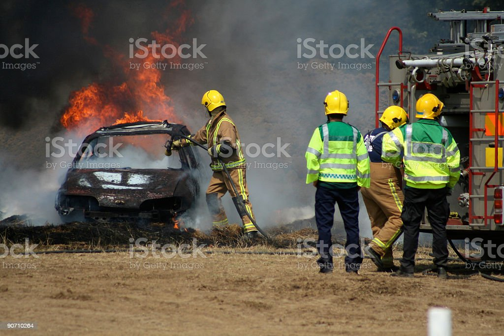 Fire fighters royalty-free stock photo