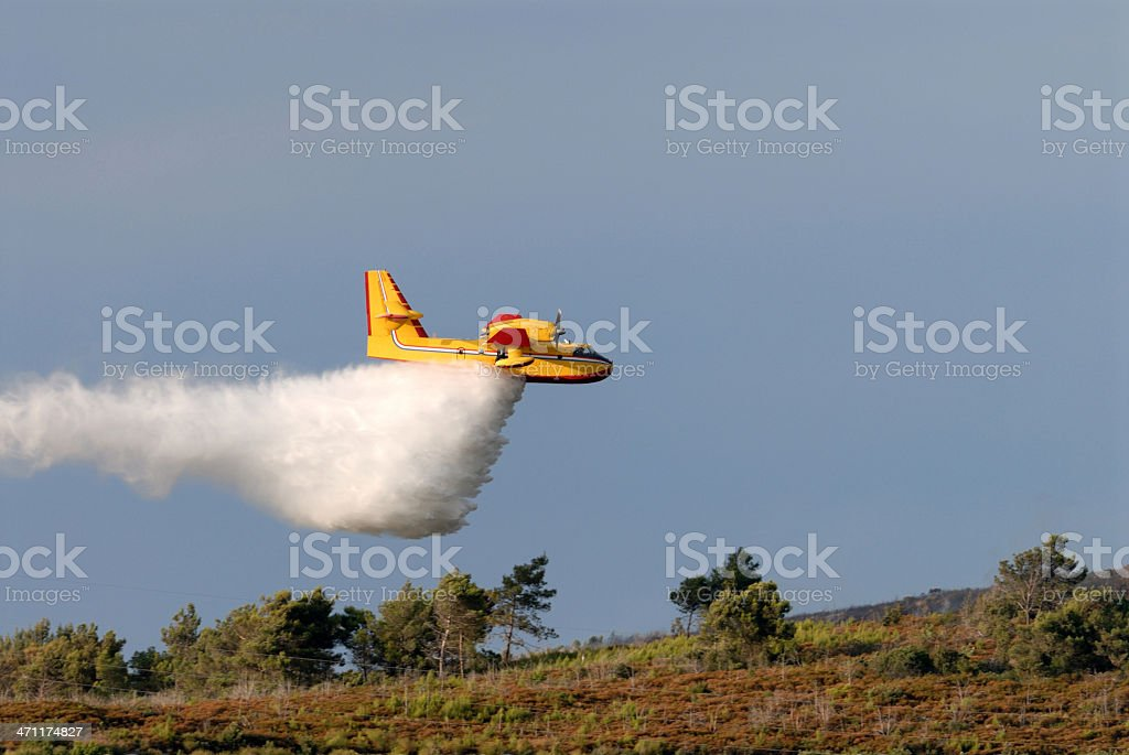 Fire fighting aircraft stock photo