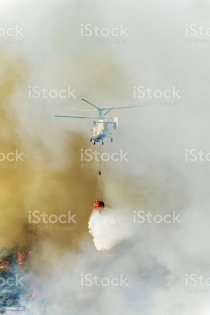 Fire Fighting Helicopter KA-32T stock photo