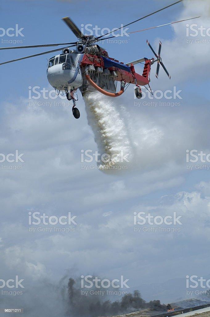 Elicottero antincendio foto stock royalty-free
