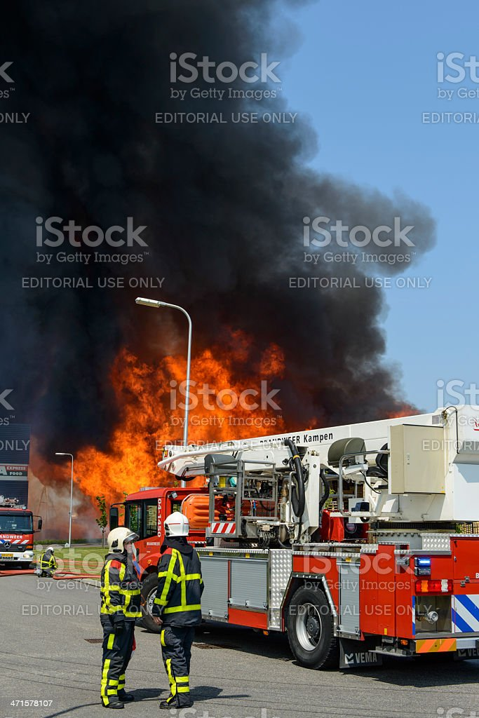 Fire fighting royalty-free stock photo