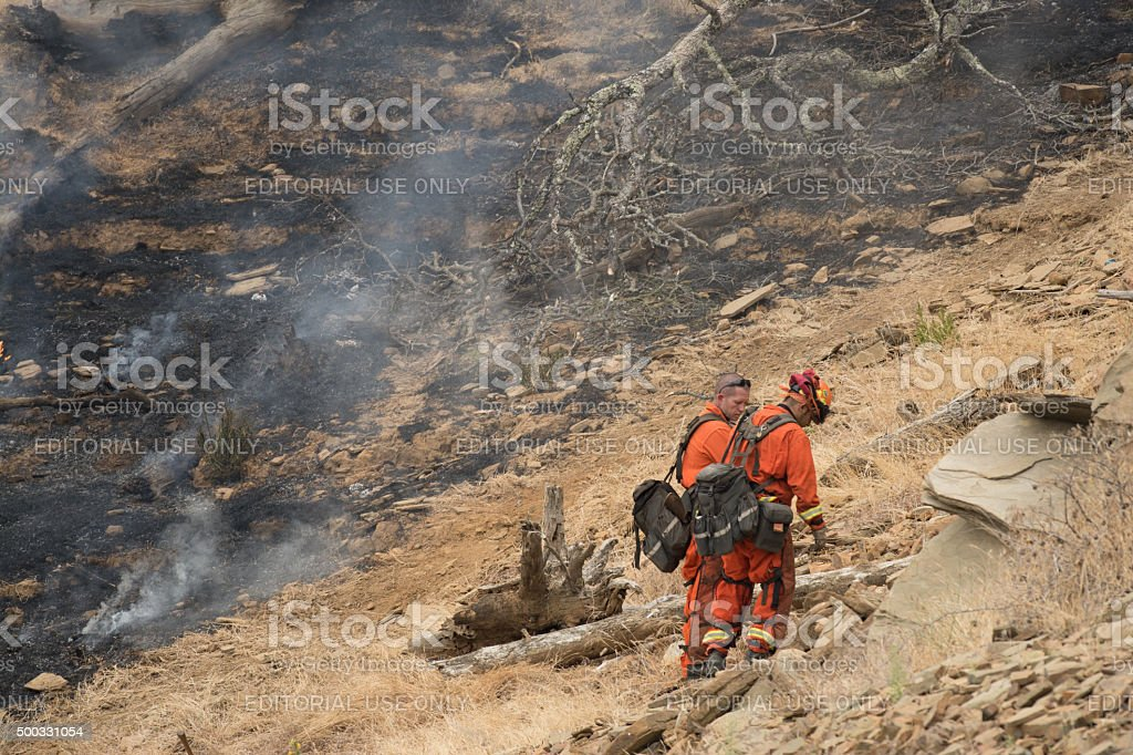 CAL Fire fire fighters stock photo