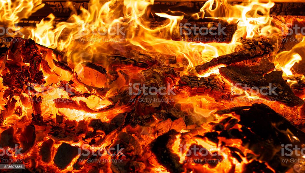 Fire flame background stock photo
