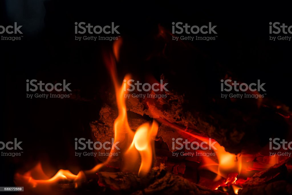 fire flame fireplace stock photo