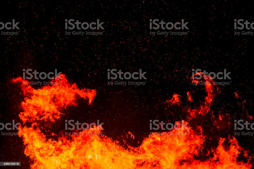 Fire flame spark stock photo