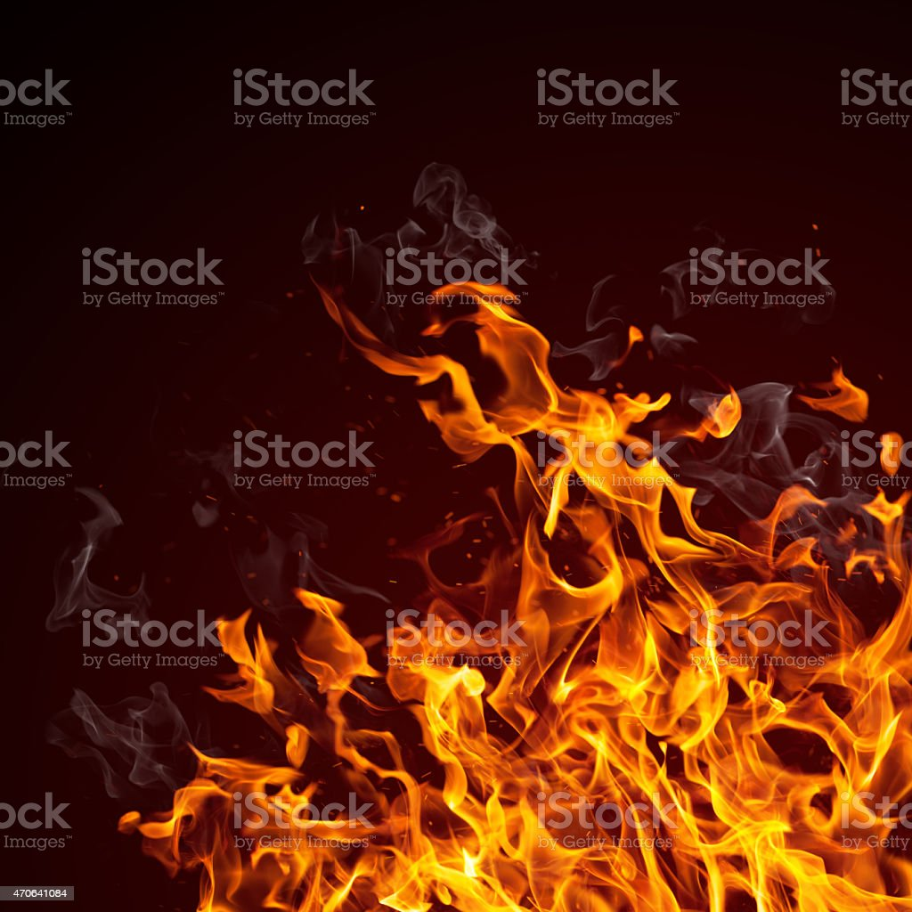 Fire flames background stock photo