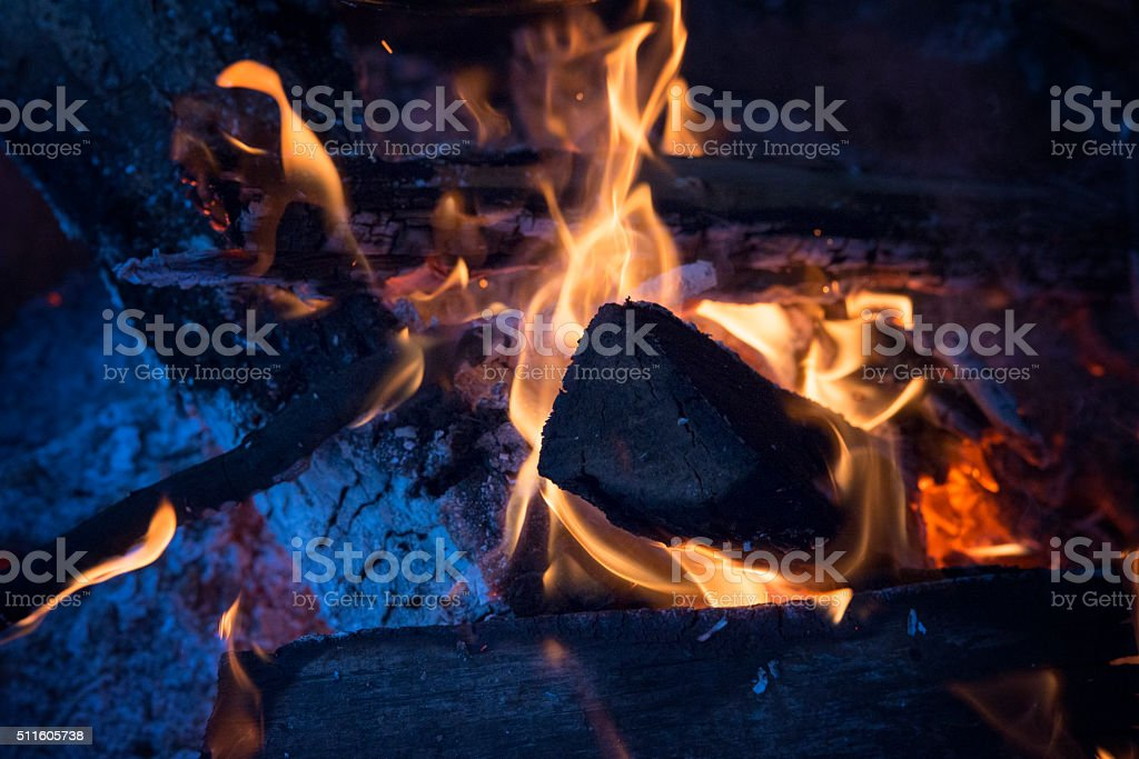 fire flames -Firewood stock photo