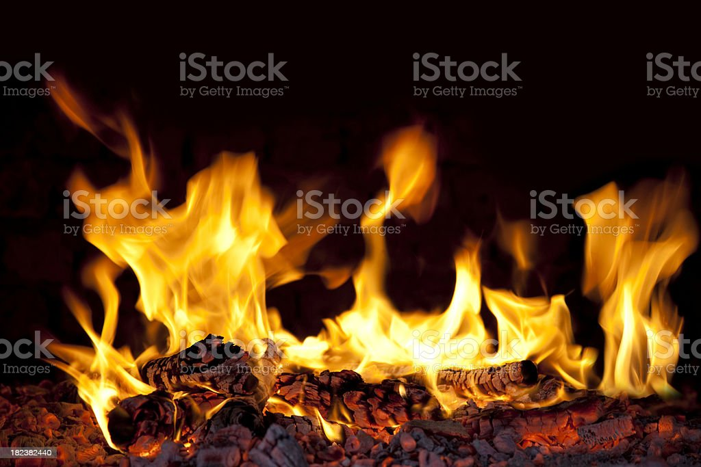 fire flames XXXL stock photo