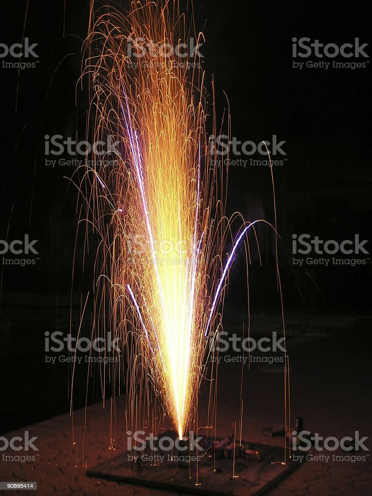 Fire fountain royalty-free stock photo
