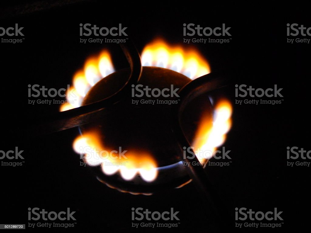 fire gas stoves stock photo