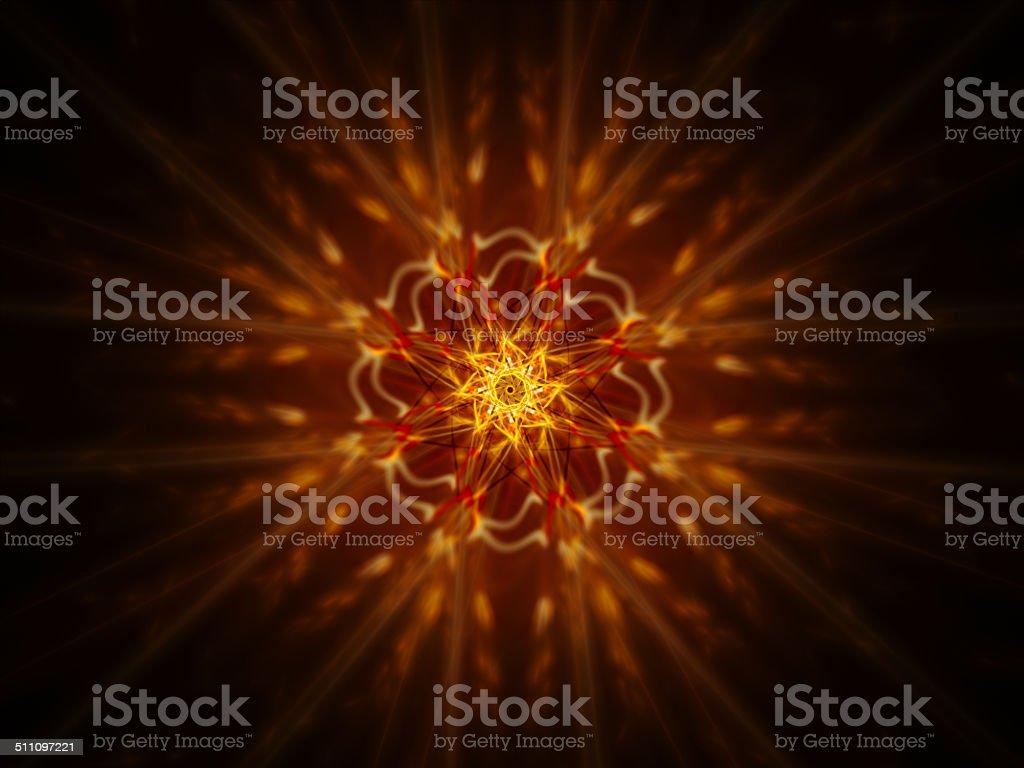 Fire glowing mandala royalty-free stock photo