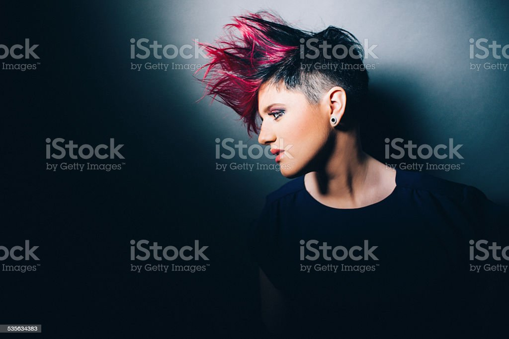 Fire Hair stock photo
