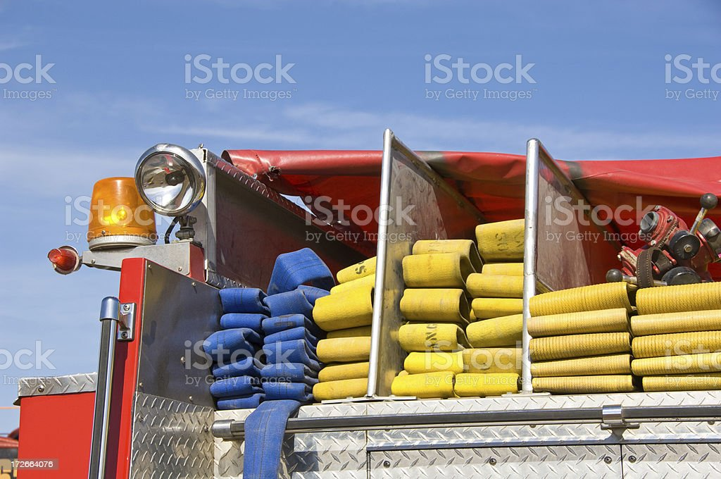 Fire Hose Detail royalty-free stock photo
