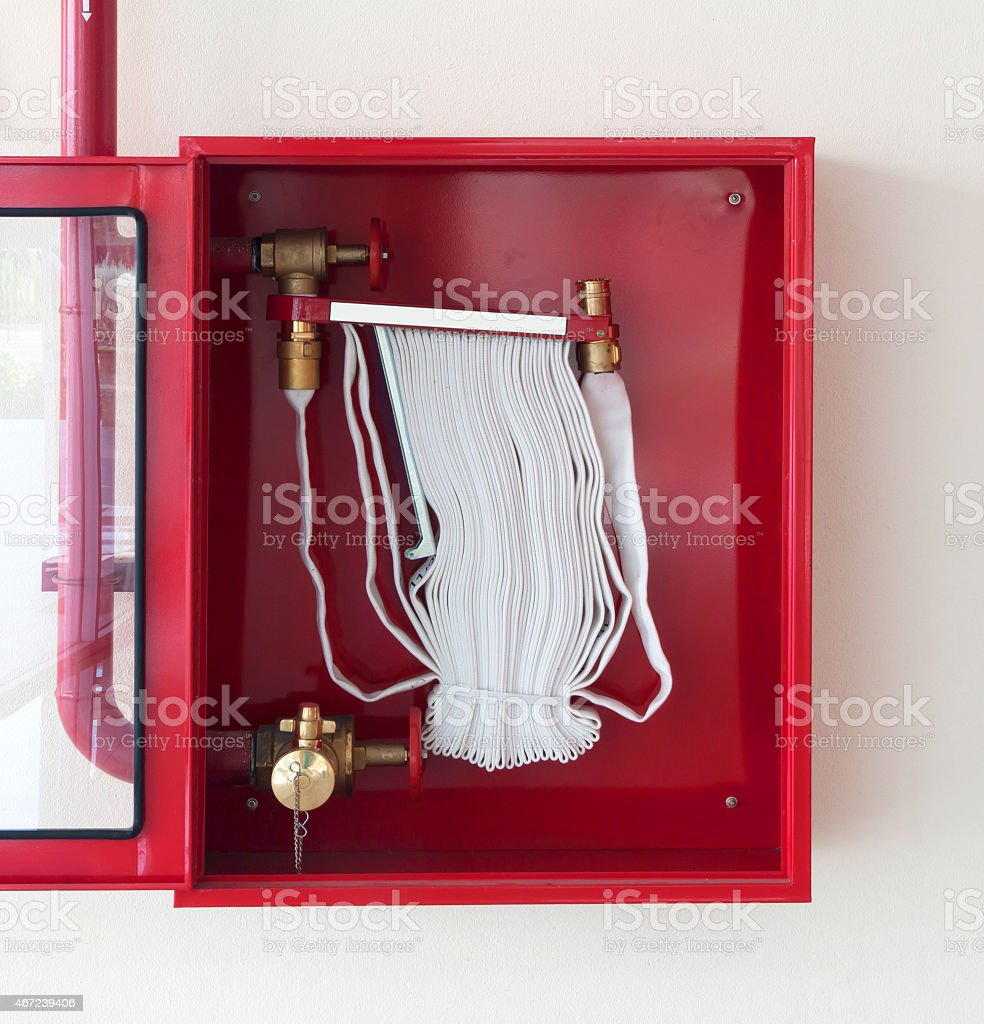 fire hose stock photo