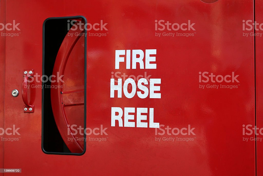 Fire Hose Reel royalty-free stock photo