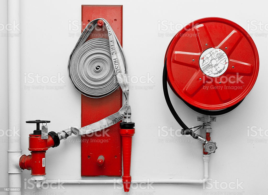 Fire Hose Reels royalty-free stock photo